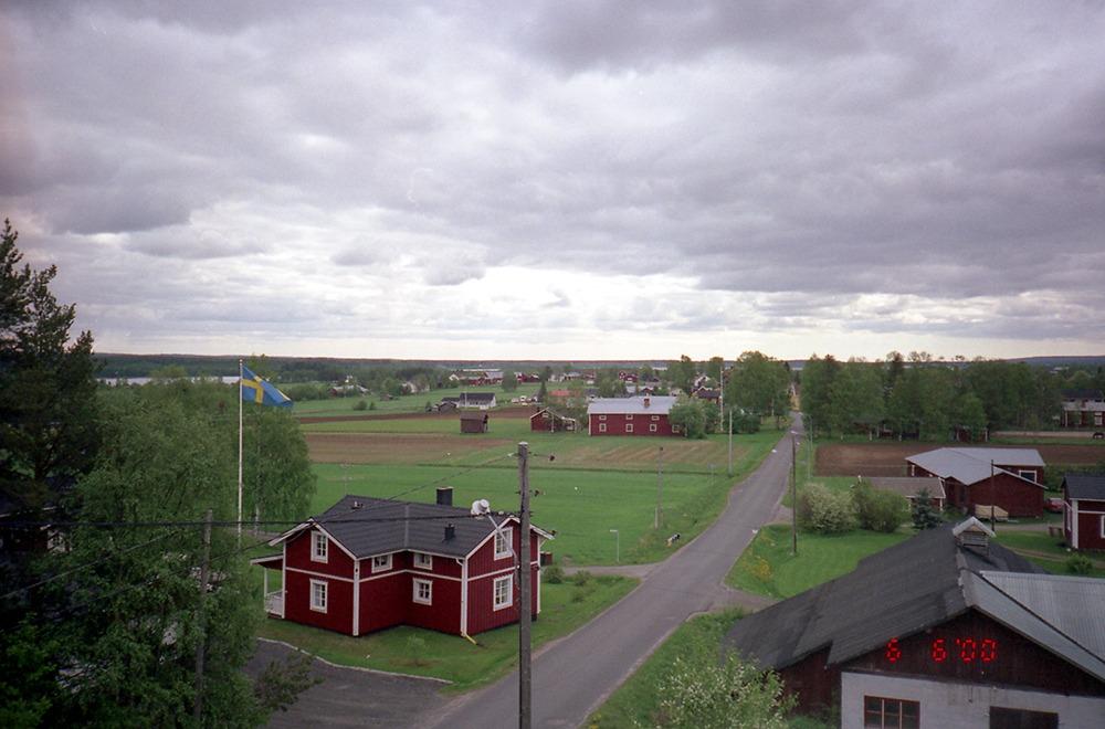 Hus på landsbygden.