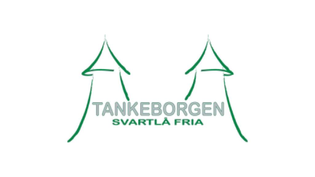Logotyp för Tankeborgen - Svartlå fria