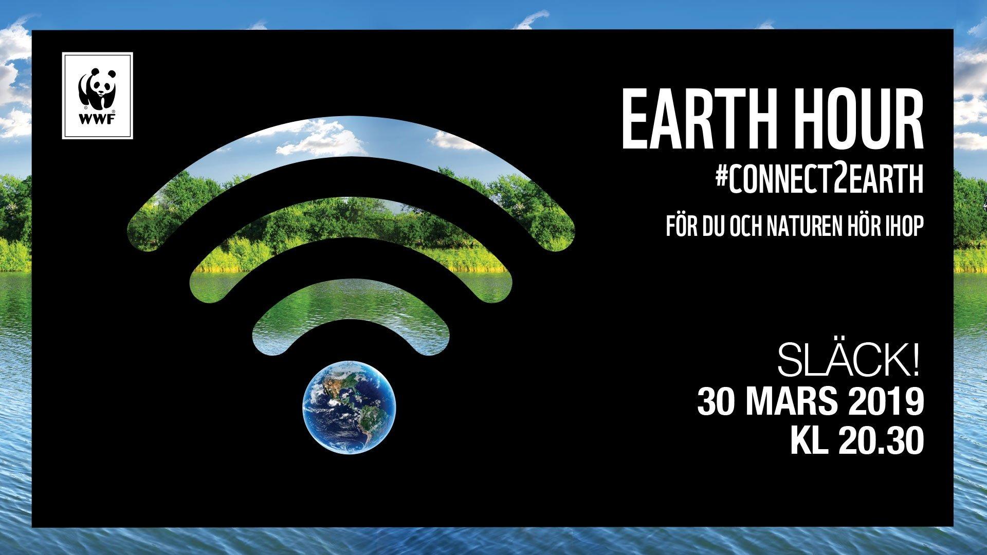 Earth hour 2019 - Bodens kommunutmanar dig
