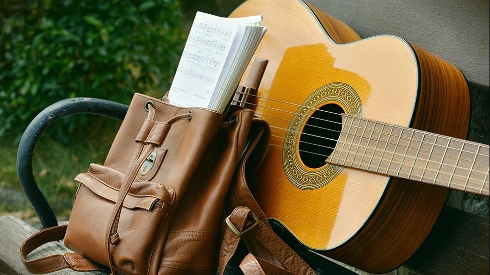 Gitarr med noter