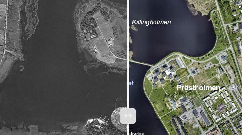 Bild på bebyggelseutvecklingen i Boden