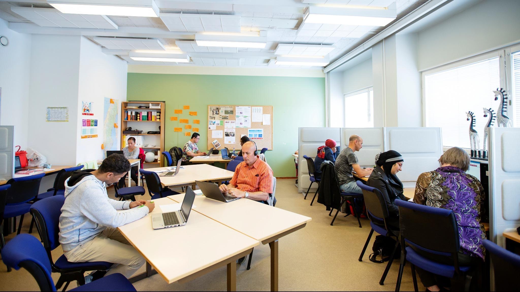 Lärcentrum datasal