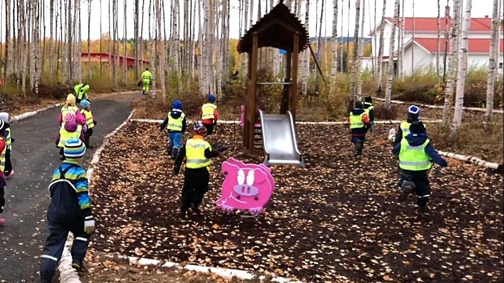 Lekparken på nya området Brännan är invigd