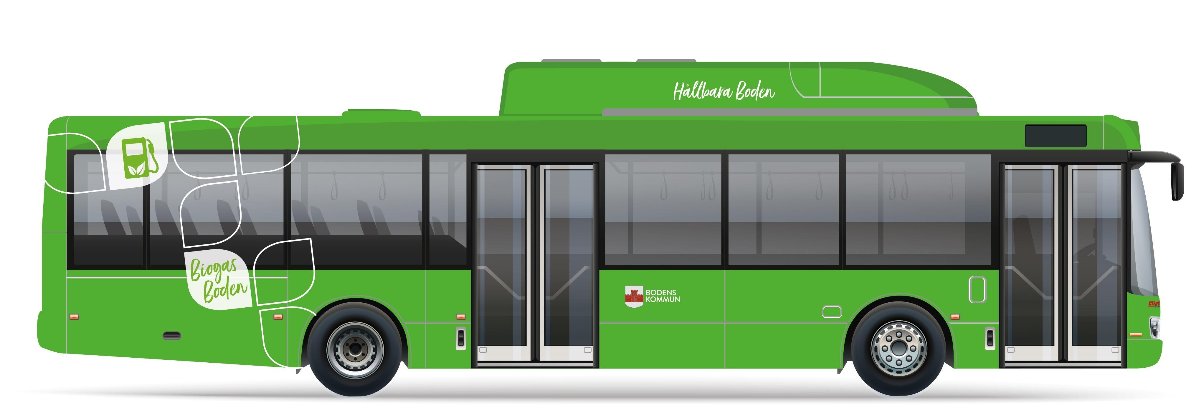 Nu blir det nya gröna bussar