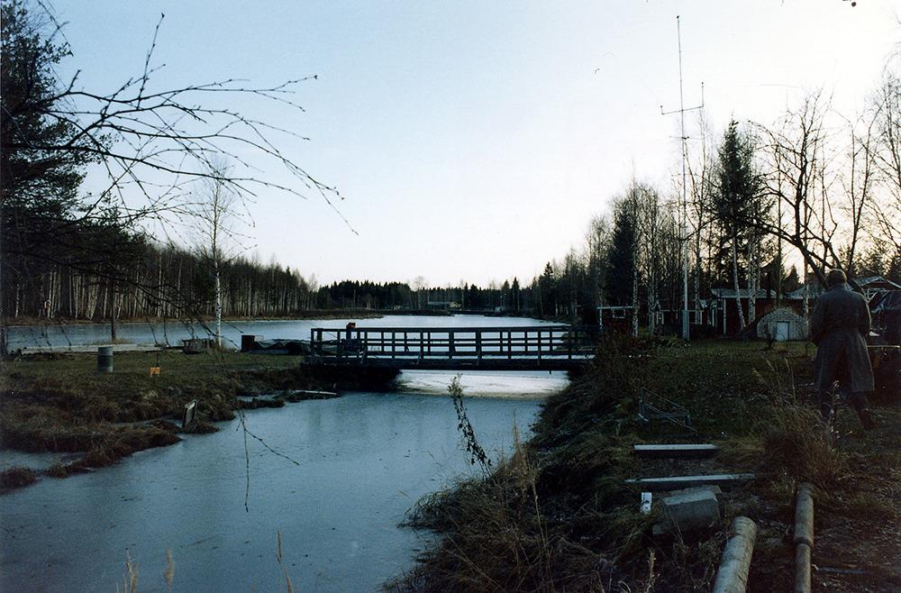 Bro över mindre vattendrag.